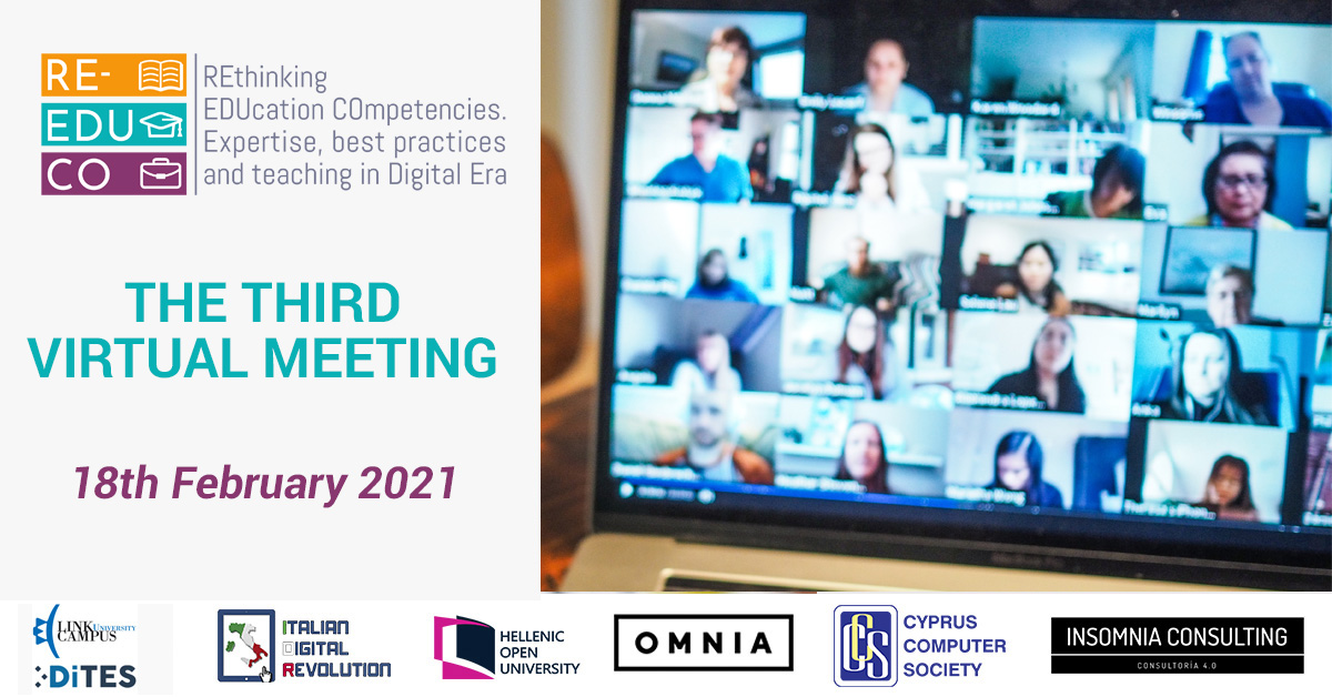 Third Virtual Meeting of the Re-Educo project